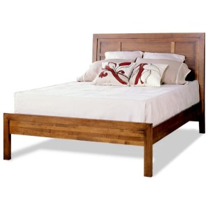 King Panel Bed W/Low Panel Ftbd Matt Only - Lodo Collection