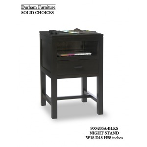 Solid Choices Program Collection Contemporary Open Night Stand