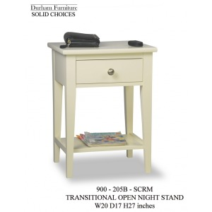 Solid Choices Program Collection Transitional Open Night Stand