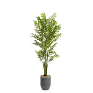 8′ Deluxe Bamboo Tree in Grey Resin Planter