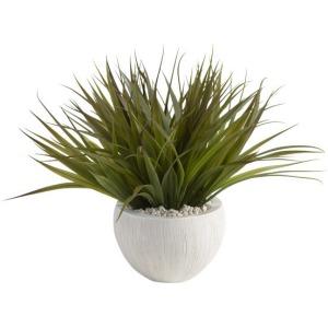 Wild Grass in White Bowl