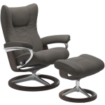 Wing Medium Signature Chair w/Footstool