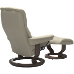 Mayfair (L) Classic chair with footstool