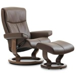 Peace Classic Chair w/Ottoman - Medium