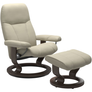 Consul (L) Classic chair with footstool