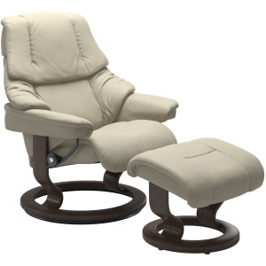 Reno (L) Classic chair with footstool