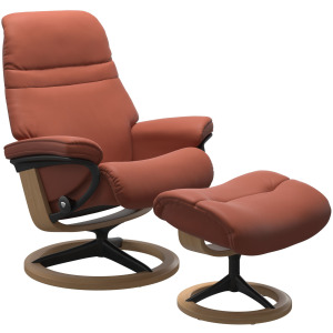 Sunrise (M) Signature chair with footstool