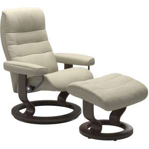 Opal (L) Classic chair with footstool