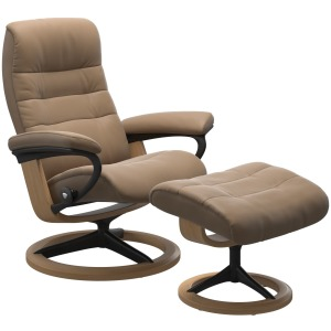 Opal (M) Signature chair with footstool