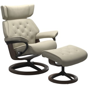Skyline (L) Signature chair with footstool