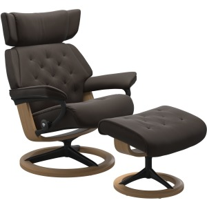 Skyline (M) Signature chair with footstool