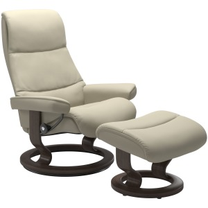 View (M) Classic chair with footstool