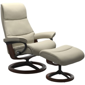 View (M) Signature chair with footstool