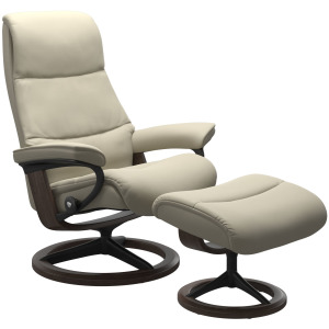 View (L) Signature chair with footstool