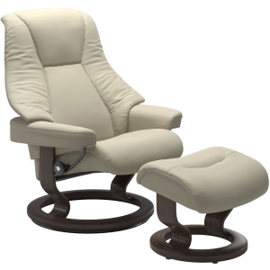 Live (M) Classic chair with footstool