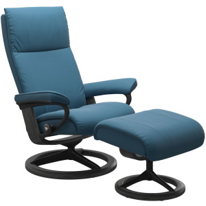Aura (M) Signature Chair with Footstool