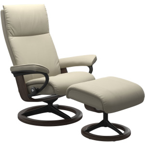 Aura (L) Signature chair with footstool