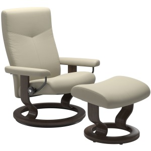 Dover (L) Classic chair with footstool