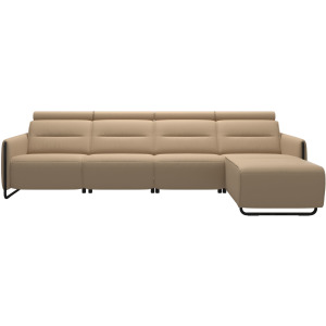 Emily 3 Seater Power Left with Long Seat - Steel Arm