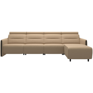 Emily 3 Seater Power Left with Long Seat - Wood Arm