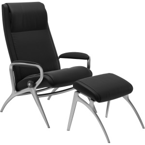 James alu chair with footstool