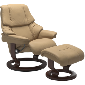 Reno Large Classic Chair w/Footstool