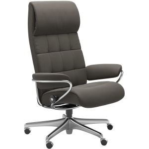 London High Back Office Chair - Metal Grey