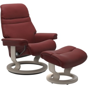 Sunrise (S) Classic chair with footstool - Paloma Cherry