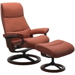 View (L) Signature chair with footstool - Paloma Henna
