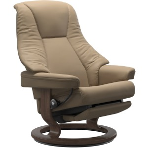 Live Large Classic Power Leg Recliner - Paloma Funghi & Walnut