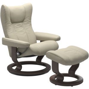 Wing Small Classic Chair w/Footstool