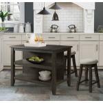 Stone Grey Kitchen Island & Stool Set