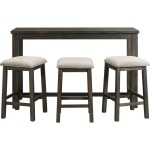 Stone Occasional Bar Table & Three Stools