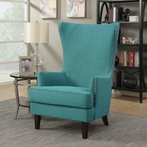 Kori Chair w/Chrome Nails - Heirloom Aqua/Teal