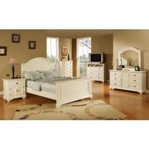Brook White 5PC Bedroom Set