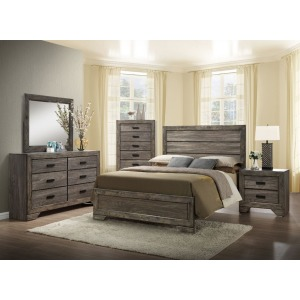 AVELE NH100 QN BED,DRESSER,MIRROR