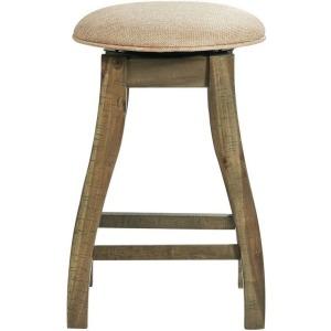 "Stone 24"" Counter Stool W/ Swivel w/Fabric Seat - Charcoal"