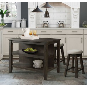 Stone Grey Kitchen Island