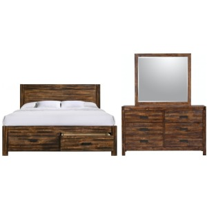 AVELE 100 KG BED,DRESSER,MIRROR, NS