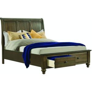 Chatham Queen Storage Bed - Grey