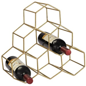 Angular Study Hexagonal Wine Rack