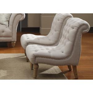Accent Chair Armless Nailhead