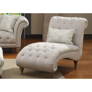 Chaise Nailhead With 1 Pillow
