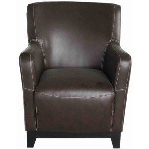 Accent Chair Brown Pu