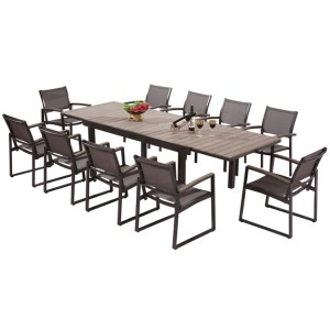 Rectangle Umbrella Table Grey