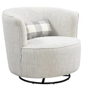 Benzley Swivel Glider Rocker Chair - Grey Stripe