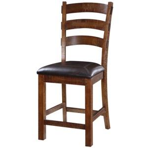 Barstool Bonded Leather Seat Rta 24\