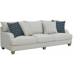 Laney Sofa w/4 Pillows - Grey