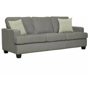 Carter Sofa w/2 Pillows - Light Grey
