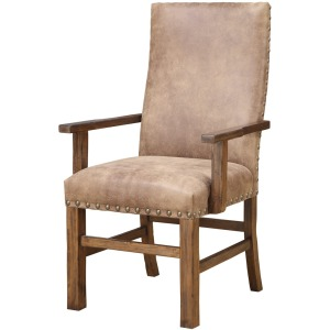Arm Chair W/nailhead Rta Almond Upholstered